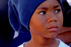 Eines der Kinder im Township