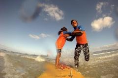 Jodys erste Surfversuche